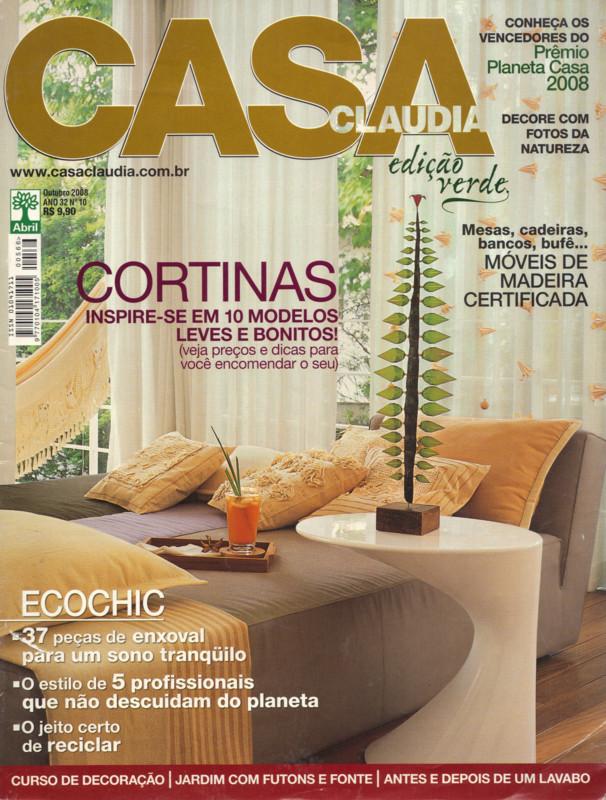 Mídia: Casa Claudia Outubro 2008