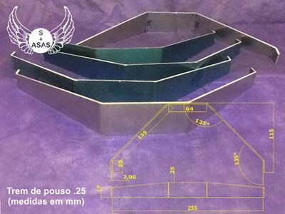 Produtos em Destaque: TREM DE POUSO 25 MEDIDAS EM MM PCT C/ 3 UNID.